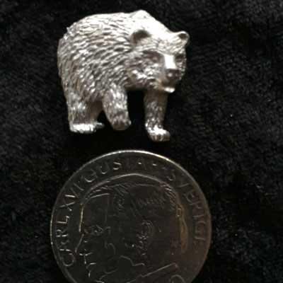 Björn pin smycke arcticart örjansfiske