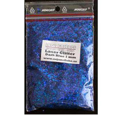 glitter laser dark blue juggform örjans fiske