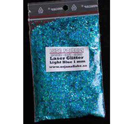 glitter laser lightblue örjansfiske