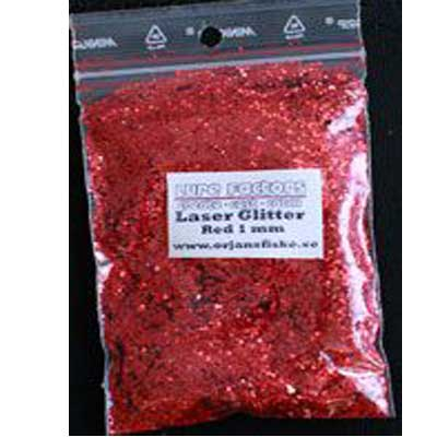 glitter laser red 1mm Örjansfiske