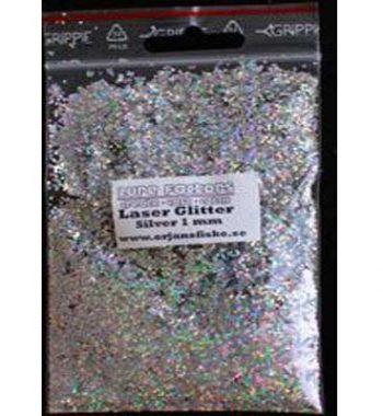 glitter lasersilv 1mm örjansfiske