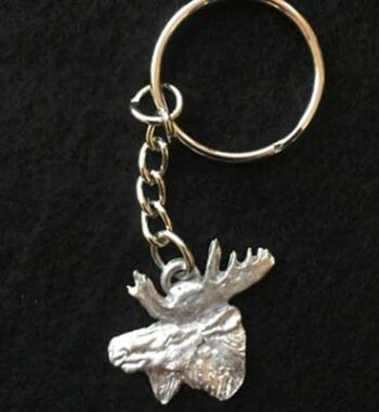 älghuvud smycke nyckelring articart örjansfiske