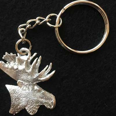 älghuvud1 smycke nyckelring articart örjansfiske