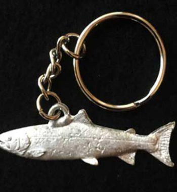 lax smycke nyckelring i tenn örjansfiske
