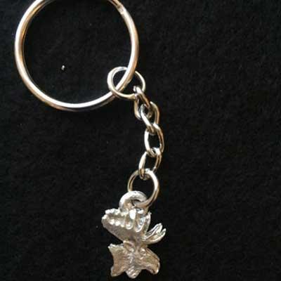 litet älghuvud nyckelring articart smycke örjansfiske