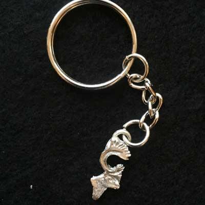 renhuvud nyckelring articart smycke örjansfiske