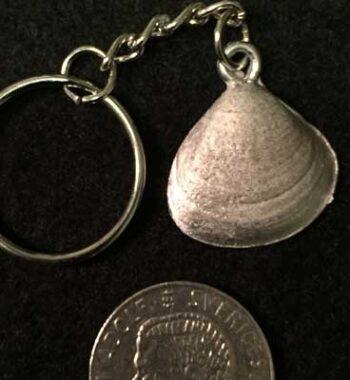 mussla smycke nyckelring örjansfiske