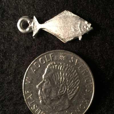 liten hälleflundra smycke arcticarts örjansfiske