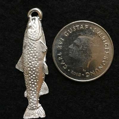 snygg Öring smycke örjans fiske
