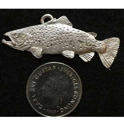 stor snygg Öring smycke örjansfiske