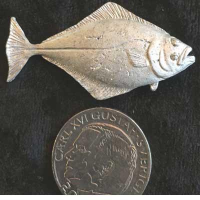 Stor hälleflundra pin Örjans fiske