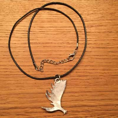 halsband älghorn tennsmycke arcticart arcticarts örjansfiske