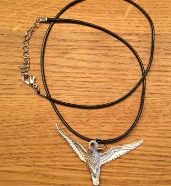 halsband flygande örn tennsmycke arcticart örjansfiske