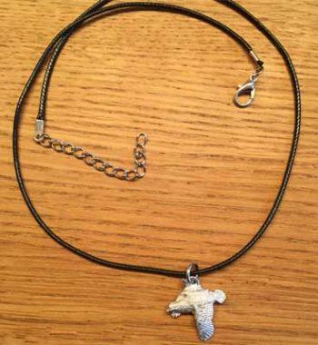 halsband flygande ripa tennsmycke arcticart örjansfiske