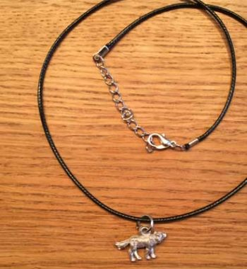 halsband liten varg tennsmycke arcticart arcticarts articart