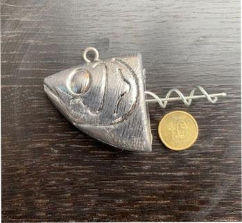 jigghuvud med skruv 300 gr jighead till hälleflundratorsk storsej orjansfiske