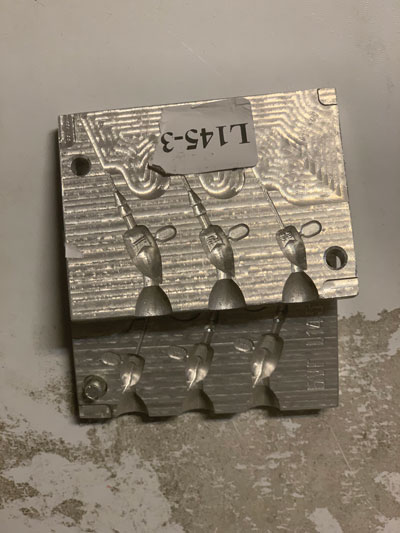 aluminiumform till jiggjutning gjuta jigghuvud örjansfiske