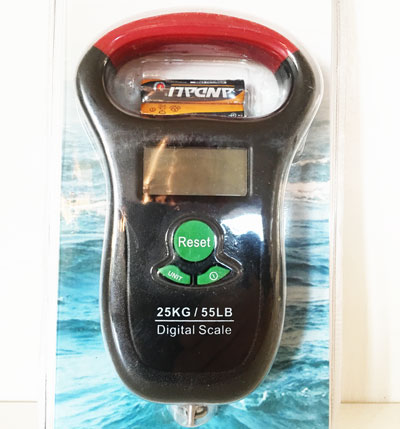 digitalvåg 25 kg 55 LB våg batterier ingår örjansfiske piteå