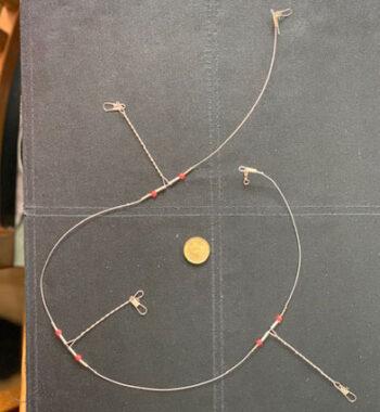 wiretackel till havsfissske hackla gjord av wire