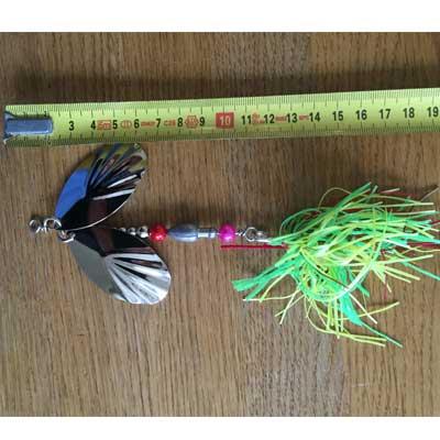 jättespinnare dubbla spinnarblad grön örjansfiske Piteå